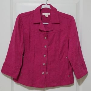 Coldwater Creek Pink Jacket Size 6